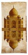 Reflected Taj Mahal Beach Towel