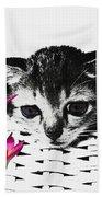 Reflecting Kitten Beach Towel