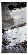 Reflection In Dirty Water Beach Towel