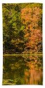 Reflection Of Autumn Beach Towel