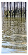 Reflection Of Fence  Beach Towel