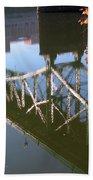 Reflection Of The Gay Street Bridge Beach Towel