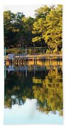 Reflection Of Trees Beach Towel