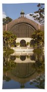Reflection/lily Pond, Balboa Park, San Diego, California Beach Towel