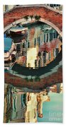 Reflection-venice Italy Beach Towel
