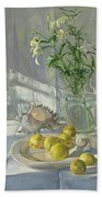 Reflections And Shadows  Beach Towel by Timothy  Easton