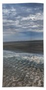 Reflections At Low Tide Beach Towel