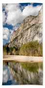 Reflections At Swinging Bridge Beach Towel