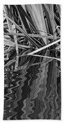 Reflections In Black And White Beach Towel