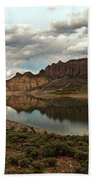 Reflections In Blue Mesa Beach Towel