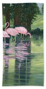 Reflections In Pink Beach Towel