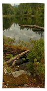 Reflections In Starvation Lake Beach Towel