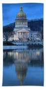 Reflections In The Kanawha River Beach Towel