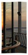 Reflections Of A Chesapeake Sunset Beach Towel