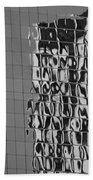 Reflections Of Architecture In Balck And White Beach Towel