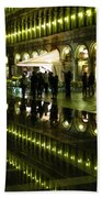 Reflections Of Saint Mark's Square-night Beach Towel