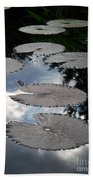 Reflections On A Lily Pond Monet Beach Towel