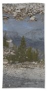 Reflections On A Mountain Stream Beach Towel