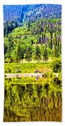 Reflections On A Summer Day - Vail - Colorado Beach Towel