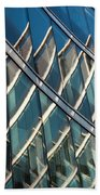 Reflections On Building Windows Beach Towel