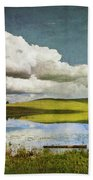 Reflections On Watership Down Beach Towel