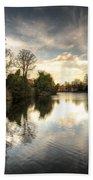 Reflections Over Lichfield Beach Towel