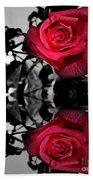 Reflective Red Rose Beach Towel