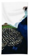 Regal Peacock Beach Towel