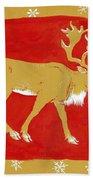 Reindeer Beach Towel by George Adamson