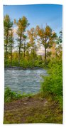 Relax By The Methow Rivers Edge Beach Towel