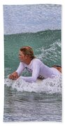 Relaxing In The Surf Beach Towel