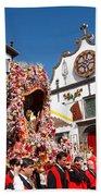 Religious Festival In Azores Beach Towel
