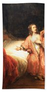 Rembrandt's Joseph Accused By Potiphar's Wife Beach Towel