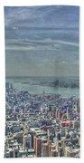 New York Remembering 9/11 Beach Towel