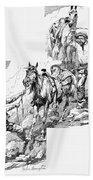 Remington Cowboys, 1887 Beach Towel