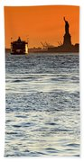 Remote Lady Liberty Beach Towel
