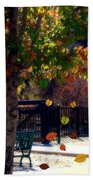 Reno Riverwalk In The Fall Beach Towel