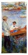 Renoir's Oarsmen At Chatou Beach Towel