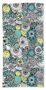 Repeat Print - Floral Burst Beach Sheet