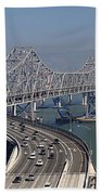Replacement Of The Easter Span San Francisco Oakland Bay Bridge From Yerba Buena Island Oct 9th 2011 Beach Sheet