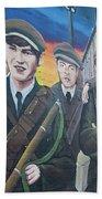 Republican Murals Against British Rule Beach Towel