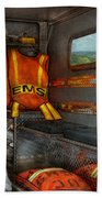 Rescue - Emergency Squad  Beach Towel by Mike Savad