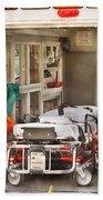 Rescue - Inside The Ambulance Beach Towel