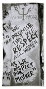 Respect Women Graffiti Beach Towel