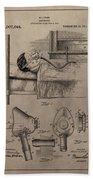 Respirator Patent Illustration 1911 Beach Towel