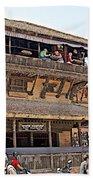 Restaurant In Bhaktapur Durbar Square In Bhaktapur-nepal Beach Towel