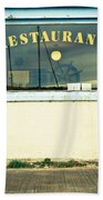 Restaurant Window Beach Towel