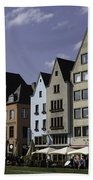 Restaurants And Brewpubs Along The Rhine Cologne Beach Towel