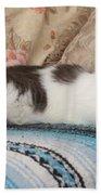 Resting Cat Beach Towel