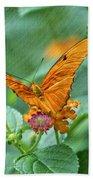 Resting Orange Butterfly Beach Towel